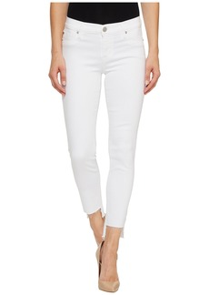 Hudson Jeans Colette Mid-Rise Skinny with Raw Step Hem in White