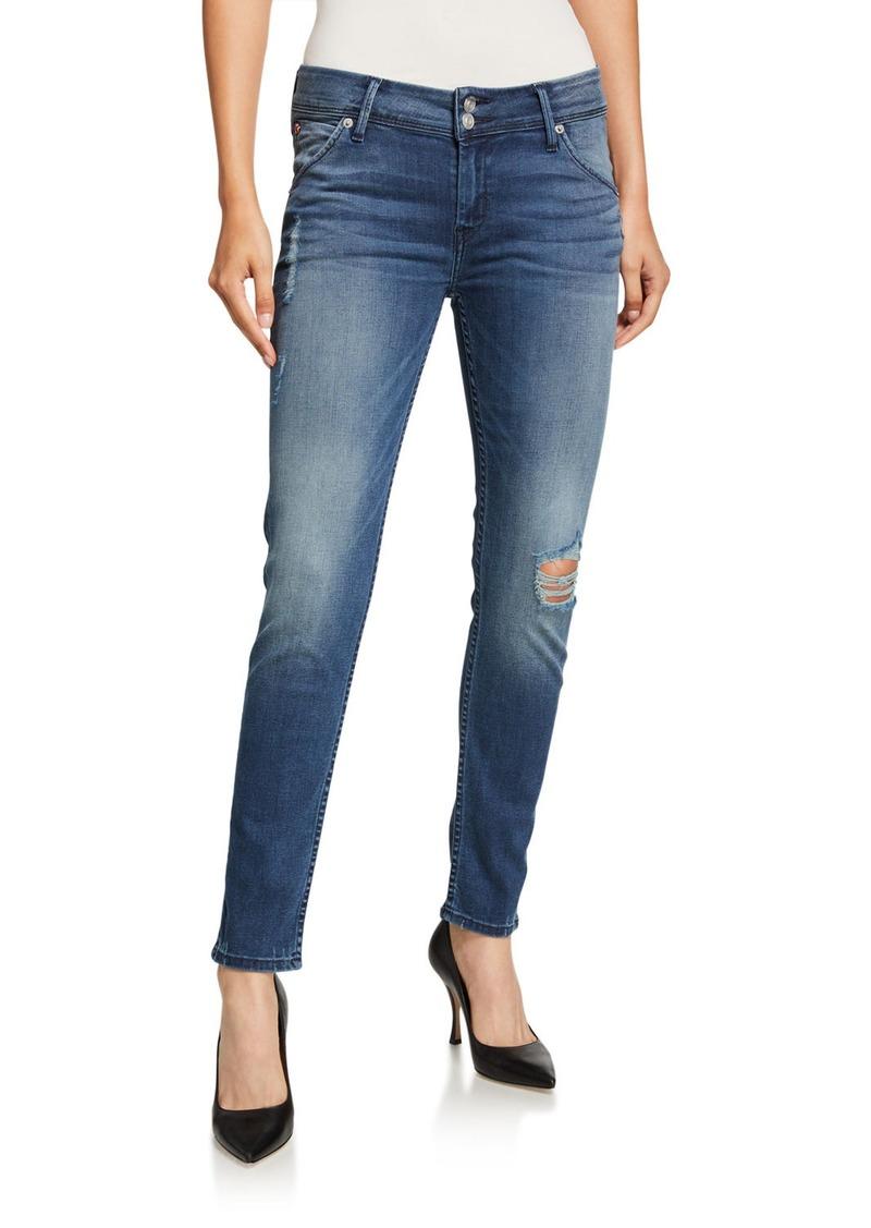 Hudson Jeans Collin Flap-Pocket Ankle Skinny Jeans  Medium Blue