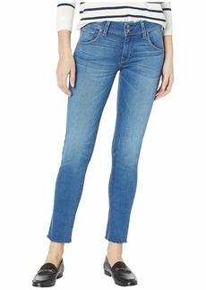 Hudson Jeans Collin Mid-Rise Ankle Flap Pocket Jeans in Vision