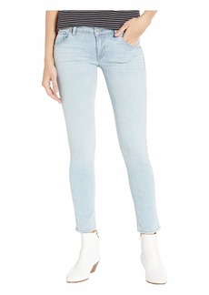 Hudson Jeans Collin Mid-Rise Ankle Skinny Jeans in Crystal Blue