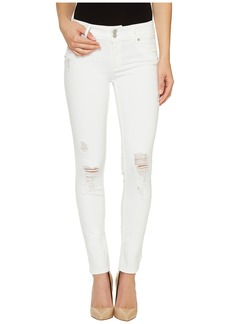 Hudson Jeans Collin Mid-Rise Skinny Flap Pocket Jeans in Demolish