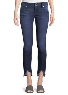 Hudson Jeans Collin Skinny Frayed-Hem Ankle Jeans