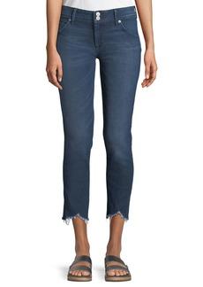 Hudson Jeans Collin Skinny Frayed-Hem Crop Jeans