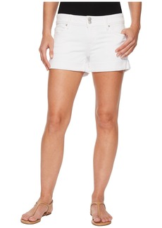 Hudson Jeans Croxley Mid Thigh Rolled Shorts in White