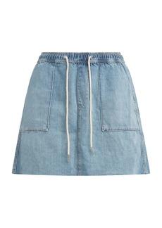 Hudson Jeans Denim Utility Drawstring Skirt