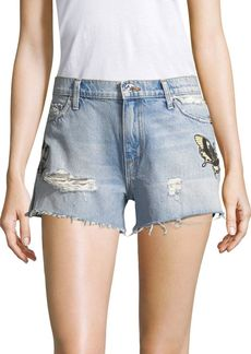 Hudson Jeans Distressed Denim Cut-Off Shorts