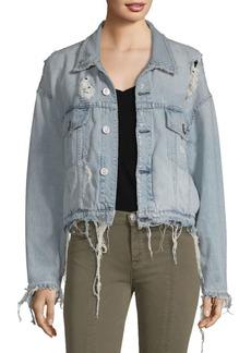 Hudson Jeans Distressed Denim Jacket