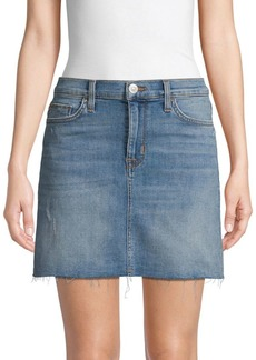 Hudson Jeans Distressed Denim Skirt