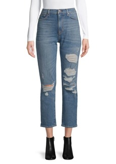 Hudson Jeans Distressed High-Rise Ankle Jeans