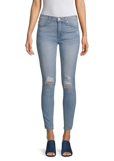 Hudson Jeans Distressed High-Waisted Jeans