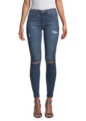 Hudson Jeans Distressed Mid-Rise Super Skinny Jeans