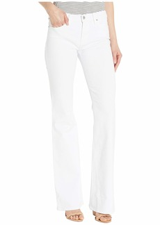 Hudson Jeans Drew Mid-Rise Bootcut Five-Pocket Jeans in White
