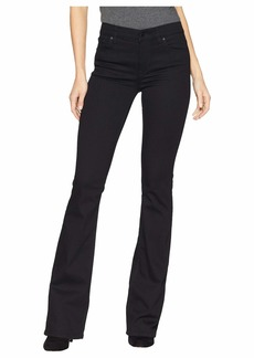 Hudson Jeans Drew Mid-Rise Bootcut Jeans in Black