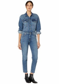 Hudson Jeans Fitted Long Sleeve Jumpsuit in Magnetize