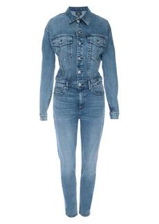 Hudson Jeans Fitted Stretch Denim Jumpsuit