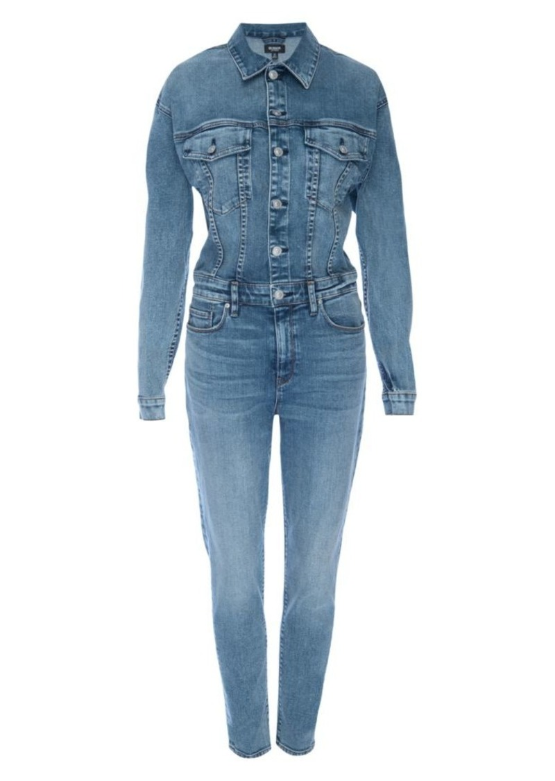 Hudson Jeans Fitted Stretch Denim Jumpsuit