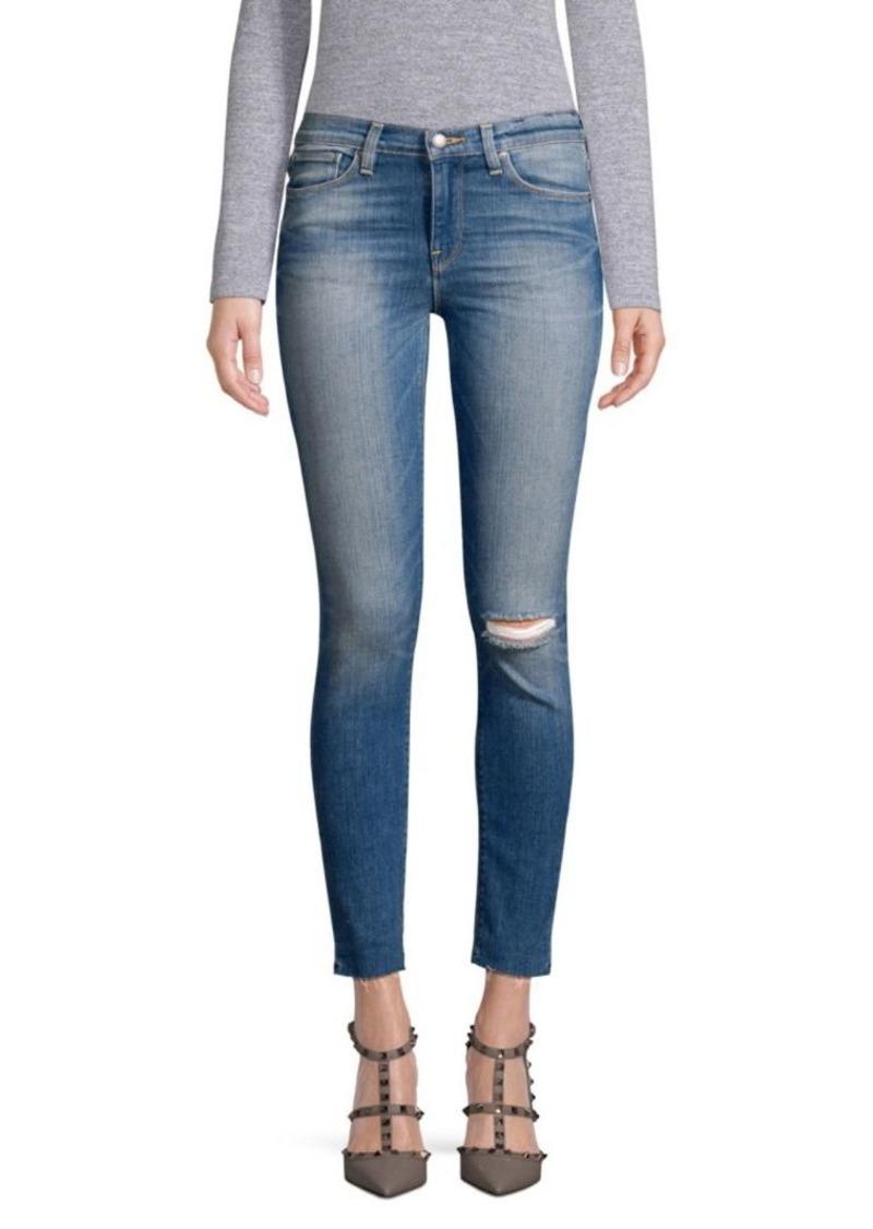 Hudson Jeans Nico Frayed Super Skinny Jeans
