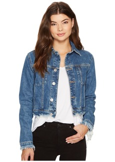 Hudson Jeans Garrison Cropped Jacket in Continuum