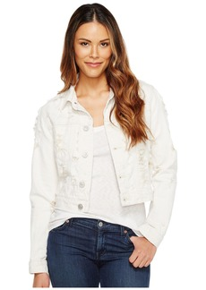 Hudson Jeans Garrison Cropped Jacket in Natural Riot