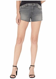 Hudson Jeans Gemma Mid-Rise Cut Off Jean Shorts in Don't Get Caught