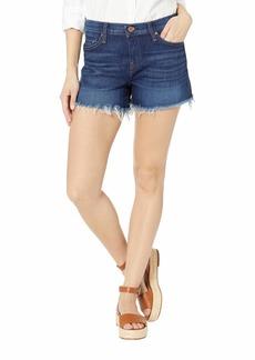 Hudson Jeans Gemma Mid-Rise Cut Off Jean Shorts in Nightfall