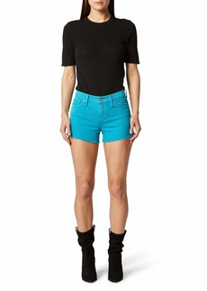 Hudson Jeans Gemma Mid-Rise Cutoffs Shorts in Blue Daisy