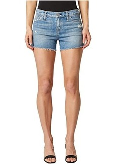 Hudson Jeans Gemma Mid-Rise Cutoffs Shorts in Worn Lullaby