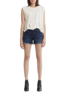 Hudson Jeans Gemma Mid-Rise Denim Cutoff Shorts