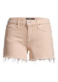Hudson Jeans Gemma Mid-Rise Frayed Hem Denim Shorts