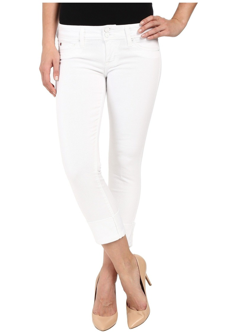 Hudson Jeans Ginny Straight Crop w/ Cuff in White