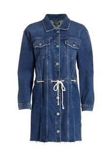 Hudson Jeans Grommet Tie-Waist Denim Dress