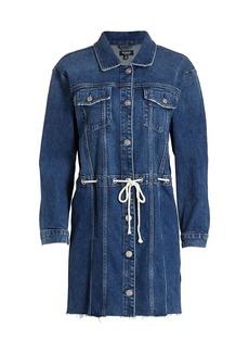 Hudson Jeans Grommet Tie-Waist Denim Dress