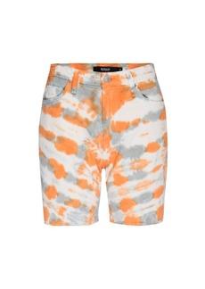 Hudson Jeans Hana Tie-Dye Mini Denim Biker Shorts