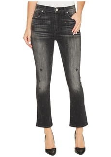 Hudson Jeans Harper High-Rise Crop Baby Kick Flare in Night Star