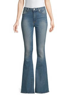 Hudson Jeans High Rise Flared Stretch Jeans