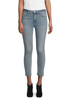 Hudson Jeans High Waist Cropped Skinny Jeans