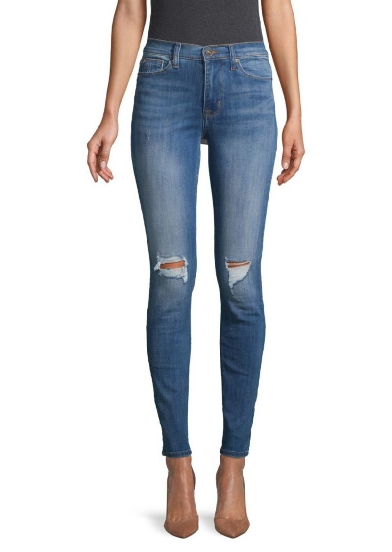 Hudson Jeans High-Waist Distressed Jeans
