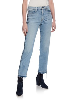 Hudson Jeans Holly High-Rise Crop Straight-Leg Jeans
