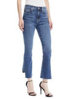 Hudson Jeans Holly High-Rise Cropped Kick-Flare Jeans
