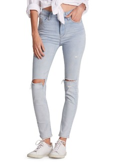 Hudson Jeans Holly High-Rise Distressed Skinny Ankle Jeans
