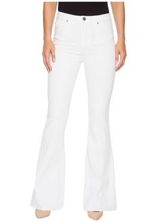Hudson Jeans Holly High-Rise Five-Pocket Flare Jeans in Optical White
