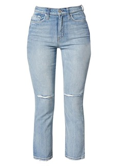 Hudson Jeans Holly High-Rise Straight Cropped Jeans