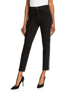 Hudson Jeans Holly Piped High-Rise Skinny Ankle Jeans