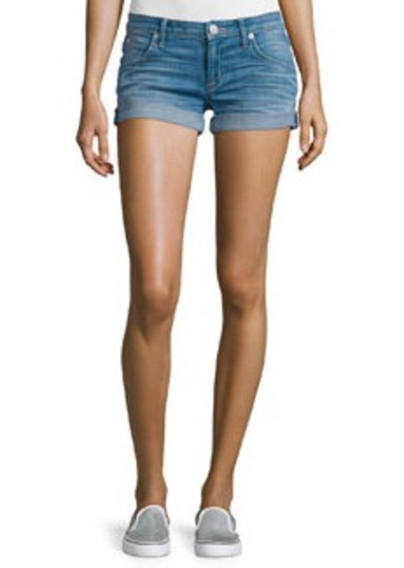 Hudson Jeans Hudson Croxley Rolled-Hem Denim Shorts