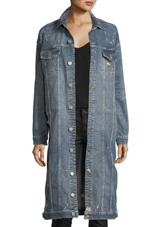 Hudson Jeans Hudson Aftermath Distressed Denim Duster Jacket