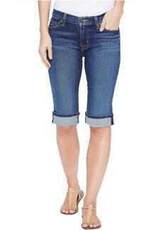 Hudson Jeans Hudson Amelia Cuffed Knee Five-Pocket Shorts in Blue Moon