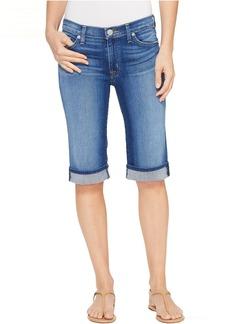 Hudson Jeans Hudson Amelia Cuffed Knee Five-Pocket Shorts in Take A Walk
