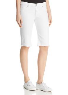 Hudson Amelia Over-the-Knee Denim Shorts in Optical White