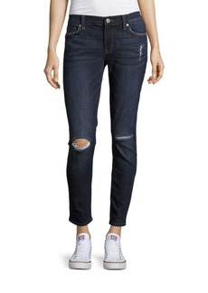 Hudson Ankle Length Distressed Jeans