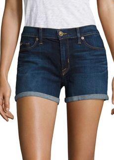 Hudson Asha Medium Wash Rolled Shorts